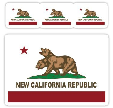 New California Republic Flag Original Sticker