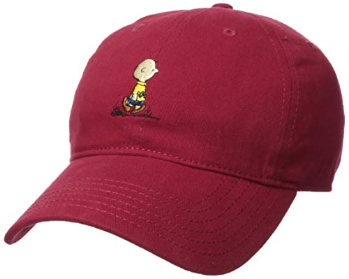 Characters From Charlie Brown - Peanuts Men's Snoopy Brown Baseball Caps,