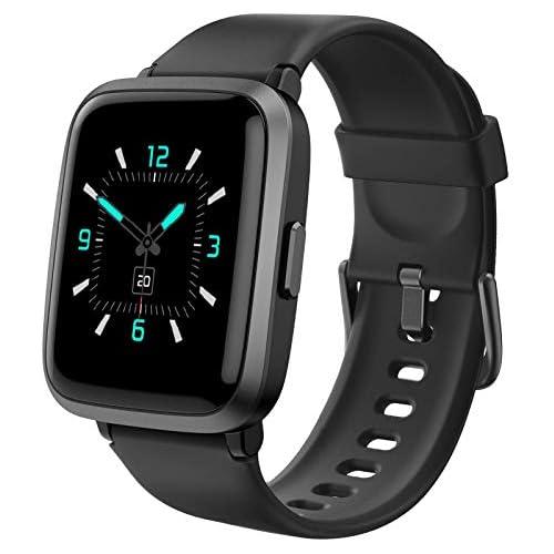chollos oferta descuentos barato AIKELA Smartwatch Relojes Inteligentes Mujer Hombre Deporte Reloj de Fitness con Impermeable IP68 Actividad Monitores de Datos Físicos Ciclo Menstrual Femenino Compatible con Android iOS Negro
