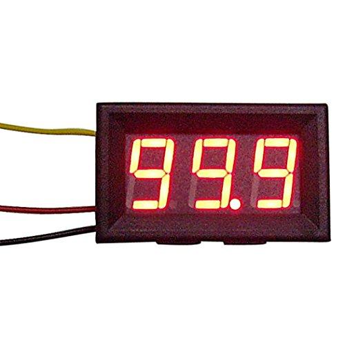 LtrottedJ New Red LED Panel Meter Mini Digital Voltmeter ,DC 0V To ()