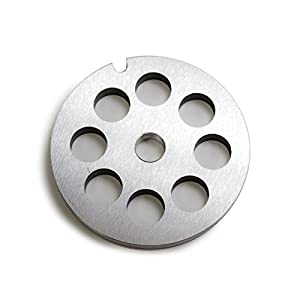 """TSM #10/12 Stainless Steel 1/2"""" Meat Grinder Plate"""