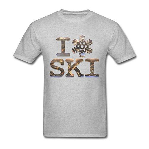 Grey I Snowflake Ski Men's Hot Topic Short Sleeve Blank Tshirt XS