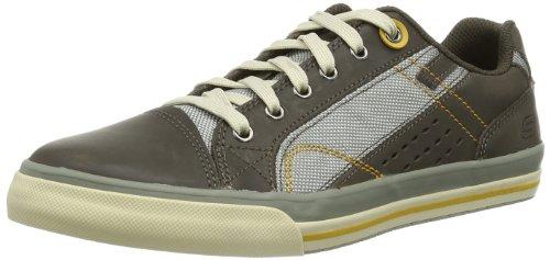 Skechers DiamondbackTevor 63701 - Zapatillas de cuero para hombre gris - Grau (CHAR)