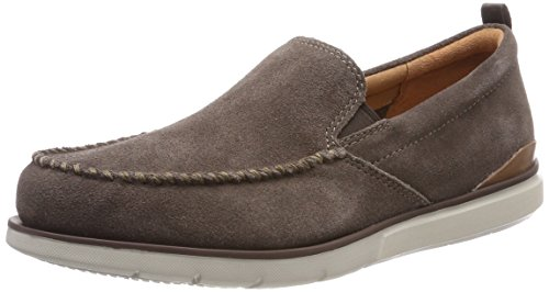 Clarks Edgewood Step, Mocasines para Hombre Gris (Taupe Suede)