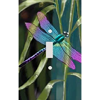 DRAGONFLY LIGHT SWITCH COVER PLATE OR OUTLET  P 2  MULTI SIZES