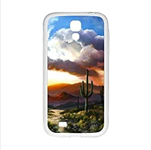 Case,Desert Cactus Sunset Samsung Galaxy S4 I9500 TPU (Laser Technology) Case, Cell Phone Cover
