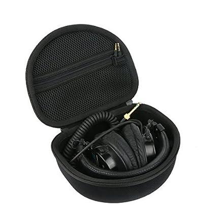 016e3b74192 Khanka Hard Headphone Case Travel Bag for Audio-Technica ATH M50 M40X M50X  M30x M50xMG