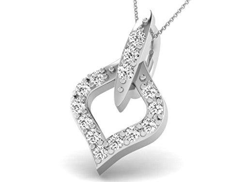 Or Blanc 14 ct Pendentifs Diamant , 0.06 Ct Diamant, GH-SI, 0.39 grammes.