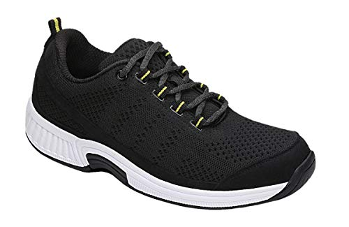 Orthofeet Comfort Plantar Fasciitis Shoes for Women Heel Pain Relief Arch Support Bunions Diabetic Athletic Sneakers Coral Black (Best Shoes For Diabetics)