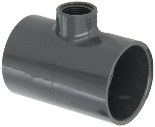 (Spears 402-G Series PVC Pipe Fitting, Tee, Schedule 40, Gray, 2