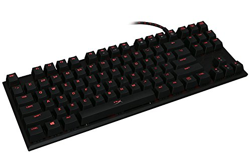 HyperX Alloy FPS Pro Tenkeyless Mechanical Gaming Keyboard, Cherry MX Red, Red...