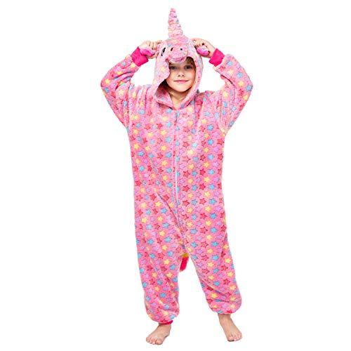 RONGTAI Kids Unisex Animal Flannel Unicorn Onesie Pajamas Cosplay Costume(85#(39