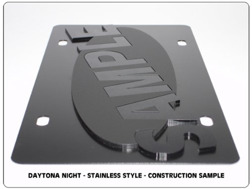 Ford Built Ford Tough on Carbon Steel License Plate Compatible with Eurosport Daytona