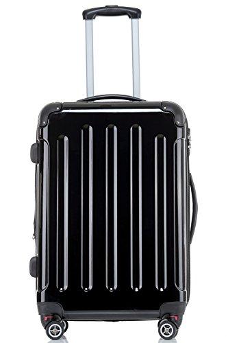 Beibye – Juego de 3 maletas rígidas (76, 65 y 54 cm), color azul oscuro