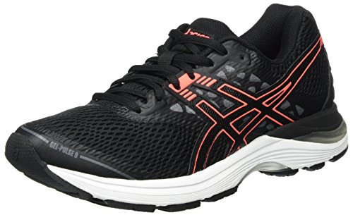 Running Flash pulse Asics Mujer Para 9 Coral De Negro Zapatillas Gel Carbon black q1HXw4