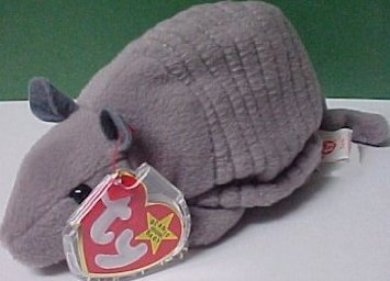 Tank TY Beanie Baby the Armadillo (4th Gen hang tag) for sale  Delivered anywhere in USA