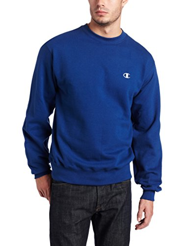 Champion Men's Pullover Eco Fleece Sweatshirt, Stadium Blue, (Stadium Crew Sweatshirt)