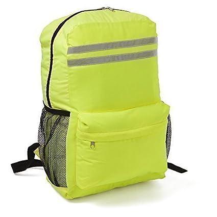 Bolsa mochila para portátil, alta visibilidad - mochila fluorescente ciclismo reflectante