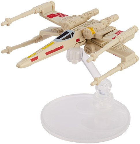 Hot Wheels Star Wars Starships 40th Anniversary X-Wing 5 Vehicle, Red