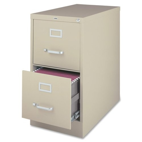 Lorell 2-Drawer Vertical File, Legal, 18 by 26-1/2 by 28-3/8-Inch, Putty