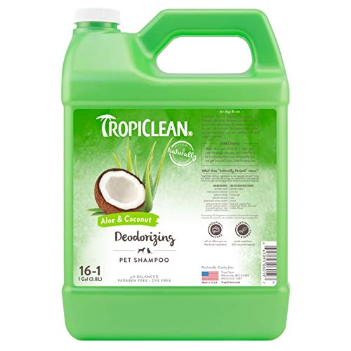Tropiclean Deodorizing Aloe and Coconut Pet Shampoo, 1 Gall