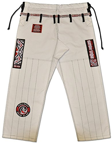 ROLL-HARD-Brazilian-Jiu-Jitsu-Ripstop-Gi-Pants-WHITE