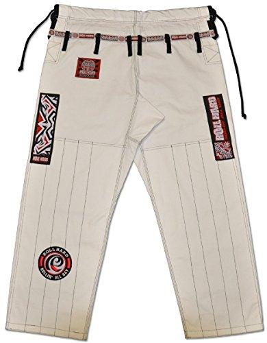 ROLL-HARD-Brazilian-Jiu-Jitsu-Ripstop-Gi-Pants-WHITE