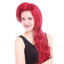 Nuoqi wig®Women's 70cm Dark Red Little Mermaid Ariel Cosplay Wig (zy91)