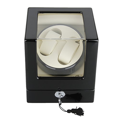 Excelvan High Quality Rectangle Watch Winder Mute Automatic Double Watch...