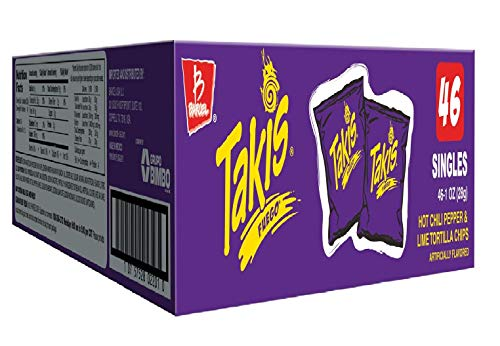 - Takis Fuego Box of 46 bags (1 oz. each) (Hot Chili Pepper)