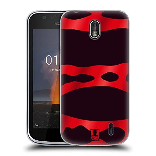 Head Case Designs Red Banded Poison Dart Frog Patterns Soft Gel Case for Nokia - Soft Banded Shell