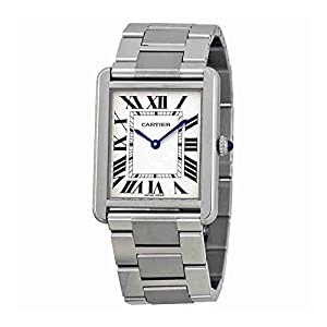 41xcsxxAbyL. SS300  - Cartier Men's W5200014 Tank Solo Large Stainless Steel Watch