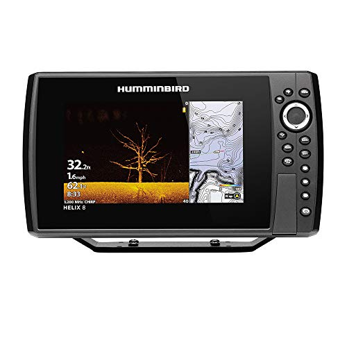 Humminbird Helix 8 G3N CHO Fish Finder with Chirp, MEGA DI, GPS, and 8-Inch-Display