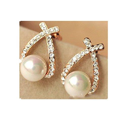Clearance Deal! Hot Sale! Earring, Fitfulvan 2018 Elegant Women Lady Fashion Crystal Rhinestone Ear Stud Mother's Day Gifts Earrings Jewelry (white) -