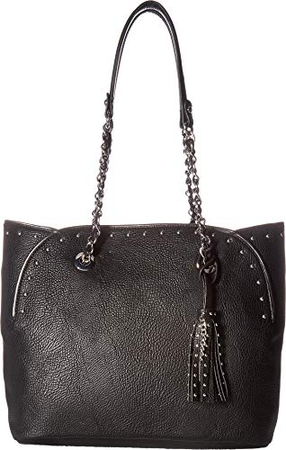 Ladies China Handbags (Jessica Simpson Womens Dorota Faux Leather Studded Tote Handbag Black Medium)