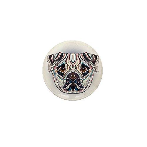 Mini Button Patterned Pug Dog (Pug Mini Button)