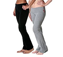 1d0f9ee35f565 Amazon.com: Slimming Foldover Bootleg Comfy Comfortable Yoga Pants (Small,  Navy Blue): Clothing
