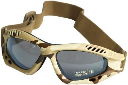 Mil-Tec Commando Gafas de protección Aire Pro Humo Lente Desert Marco