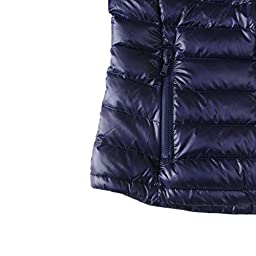 CHERRY CHICK Women\'s Ultralight Down Parka Jacket X-Large Navy Blue