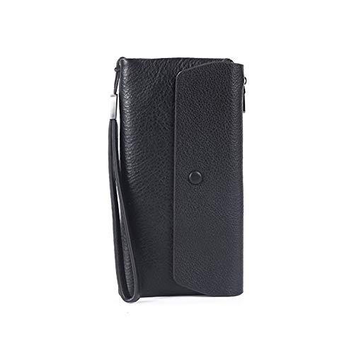 Caf Lady Wallet Card RcnryMulti Capacity Handbag Coffee Style Leather Wallet Folded Black Super Retro Gray Print Black Long Litchi Female UqOwzdq