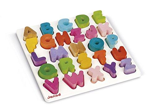 Janod Wooden Alphabet Puzzle (Puzzle Wood Alphabet)