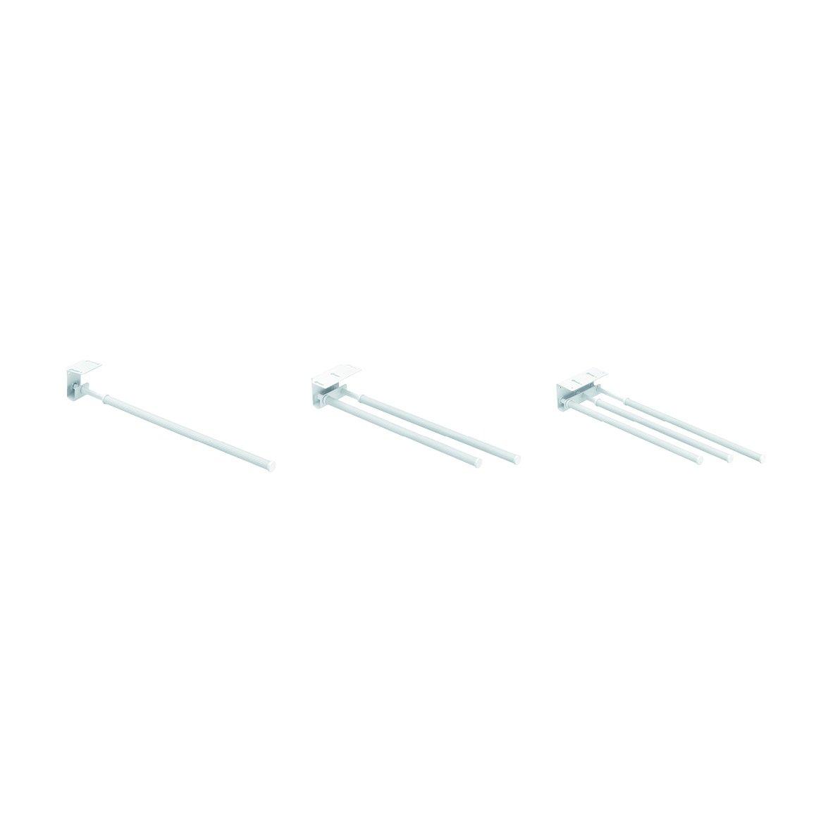 11 x 7 x 43-77 cm Toallero telesc/ópico extensible de metal y pl/ástico color blanco Wenko 18569100 Duo Basic