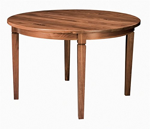 Amish Round Transitional Dining Table Solid Wood 42