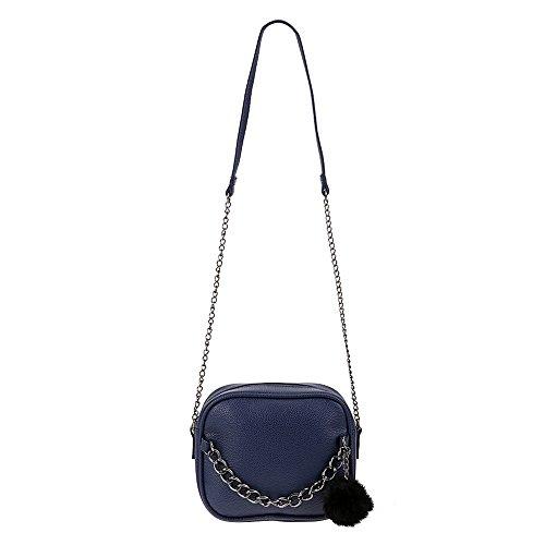 Aprigy de de del bolso del mensajero hombro del del con Crossbody la bolso las de de la mujeres Pequeña de mujeres bolso cadena Azul las bolsos la de fe PU cuero de juguete diseñador mujeres las bola del RwxqRPr8