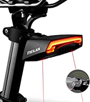 Meilan X5 USB Rechargeable Smart Bike Tail Light Wireless Turning Signal Bike Light Bicycle Rear Light with a
