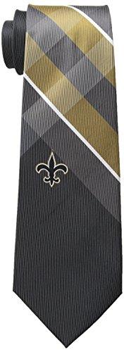 NFL New Orleans Saints Men's Woven Polyester Grid Necktie, One Size, Multicolor