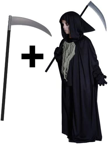 Halloween Fancy Dress Up Outfit Costume Death Grim Reaper Adult XL Large NEW