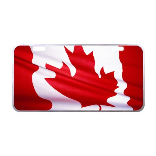 Canada Star Trek Costumes (Canada National Flag License Plate with Vivid color and Detail Images-11.8