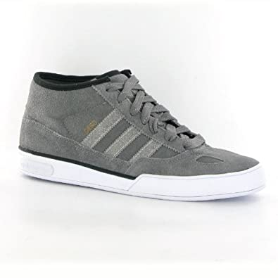 new product 05032 f3210 adidas Ciero Mid Black Grey Leather Mens Trainers Size 9.5 US