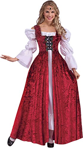 [Medieval Lace-Up Gown Costume - Plus Size - Dress Size 18-22] (Plus Size Renaissance Costumes)
